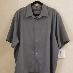 Perry Ellis America sueded xxl grey button up